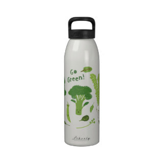 ¡Va el verde Veggies sanos Botallas De Agua