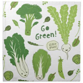 """""""Va el verde!"""" (Verde frondoso!) Veggies de la div Servilletas"""