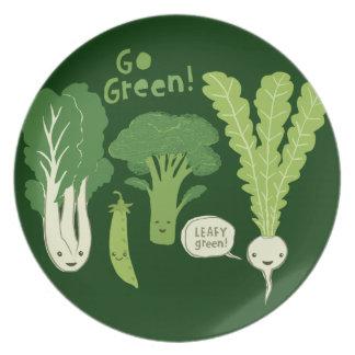 ¡Va el verde! (Verde frondoso!) Veggies felices Platos De Comidas