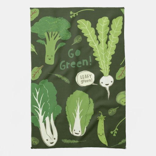¡Va el verde! (Verde frondoso!) Veggies felices Toalla