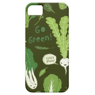 ¡Va el verde! (Verde frondoso!) Veggies sanos feli iPhone 5 Cárcasas
