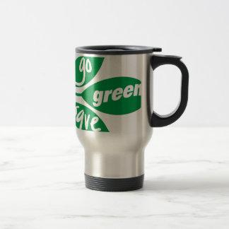 va el verde y ahorra taza de viaje de acero inoxidable