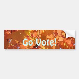 ¡Va el voto! pegatina del coche de las hojas de Pegatina Para Auto