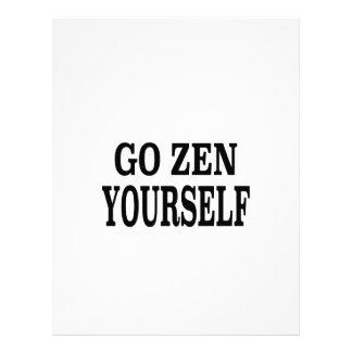 Va el zen usted mismo (la edición negra de la resp plantillas de membrete