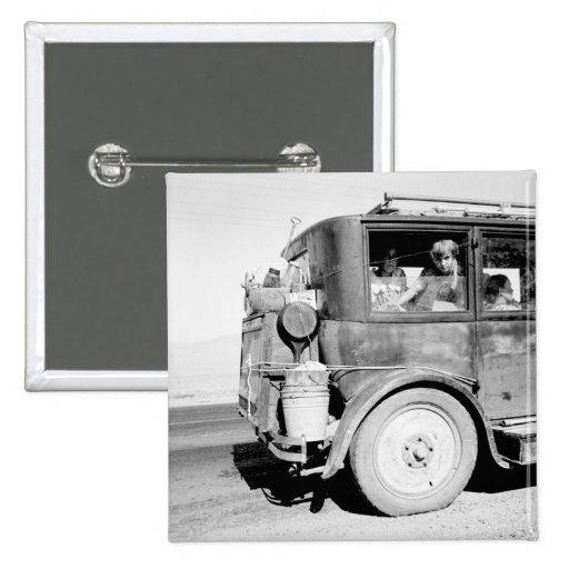 Va Family joven del oeste, 1936 Pin Cuadrada 5 Cm