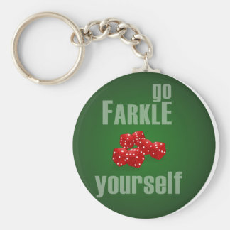 Va Farkle usted mismo Llavero Redondo Tipo Pin