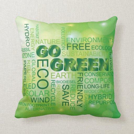 Va la almohada verde de la nube de la palabra