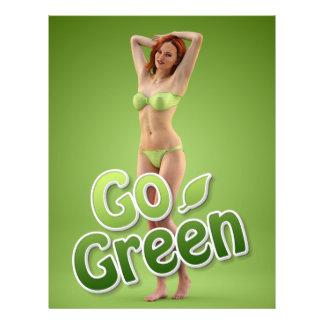 """Va la belleza verde del chica folleto 8.5"""" x 11"""""""