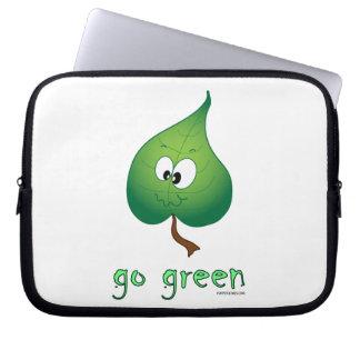 Va la caja verde del ordenador portátil mangas portátiles