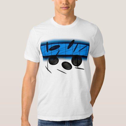 VA la camiseta del azul de la escena Playeras