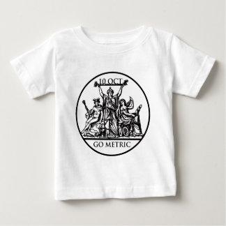 Va la camiseta infantil métrica camisas