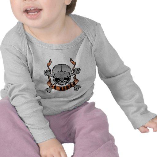 Va la camiseta larga del bebé de la manga del crán