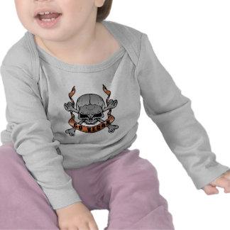 Va la camiseta larga del bebé de la manga del