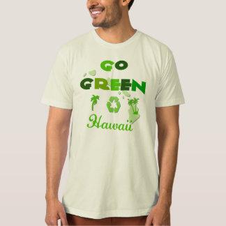 Va la camiseta orgánica verde de Hawaii Poleras