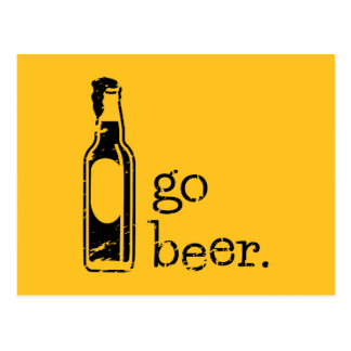 Va la cerveza con la botella de cerveza: Cualesqui Postal