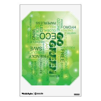 Va la etiqueta verde de la pared de la nube de la  vinilo decorativo