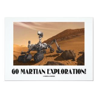 """¡Va la exploración marciana! (Curiosidad de Marte Invitación 5"""" X 7"""""""