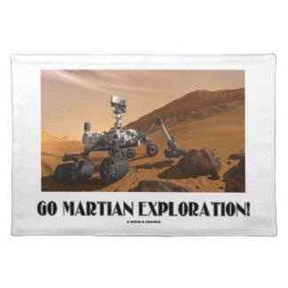 ¡Va la exploración marciana! (Curiosidad de Marte Manteles