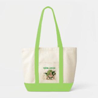 Va la hada verde bolsa lienzo