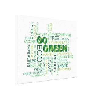 Va la impresión estirada nube verde de la lona de  lienzo envuelto para galerias