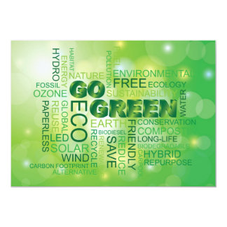Va la invitación verde de la nube de la palabra