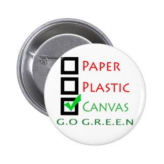 Va la lona del plástico del Libro Verde Pin