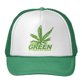 Va la mala hierba verde gorras