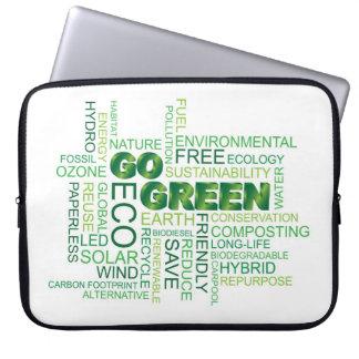 Va la manga verde del ordenador portátil de la nub funda portátil