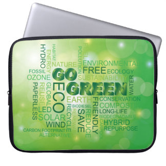 Va la manga verde del ordenador portátil de la nub fundas ordendadores