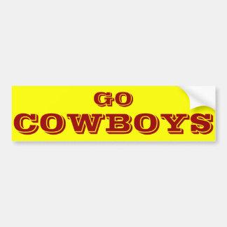 Va la pegatina para el parachoques de Cowboys* Pegatina Para Coche