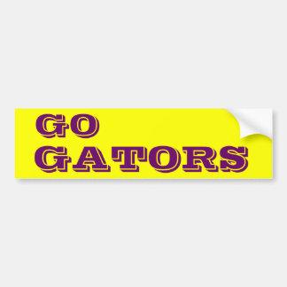 Va la pegatina para el parachoques de Gators* Etiqueta De Parachoque