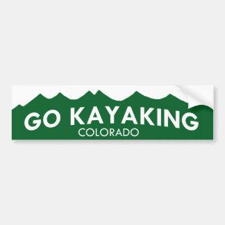 Va la pegatina para el parachoques Kayaking de Col Pegatina Para Auto