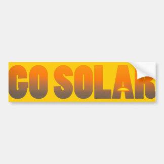 Va la pegatina para el parachoques solar pegatina para auto