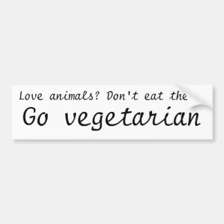 Va la pegatina para el parachoques vegetariana pegatina para auto