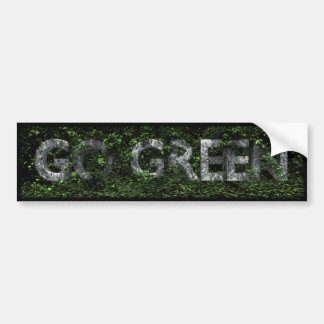Va la pegatina para el parachoques verde pegatina para auto