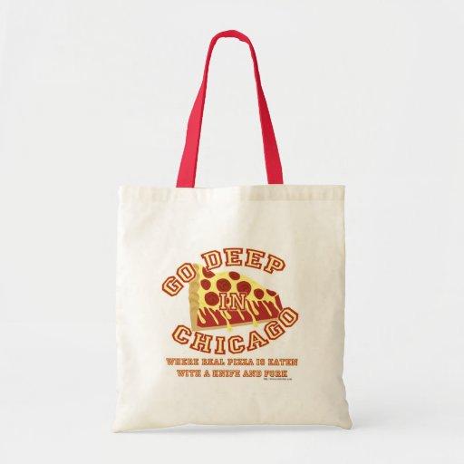 Va la pizza profunda del estilo de Chicago Bolsa Tela Barata