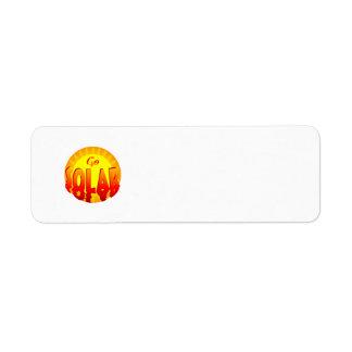Va la plantilla solar de la etiqueta del refrán etiquetas de remite