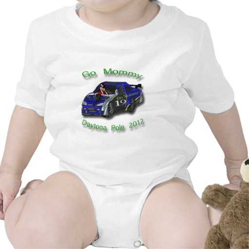 Va la pole position 2012 de Daytona de la mamá Trajes De Bebé