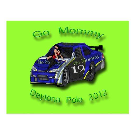 Va la pole position 2012 de Daytona de la mamá Tarjetas Postales
