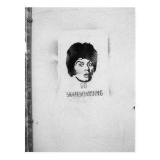 """""""va"""" la postal del arte de la pintada del lema que"""
