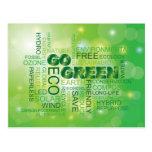 Va la postal verde de la nube de la palabra