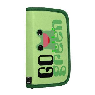 va la rana linda verde del kawaii organizadores