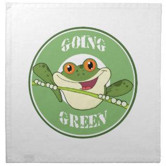 Va la rana verde servilletas imprimidas