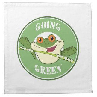Va la rana verde servilleta
