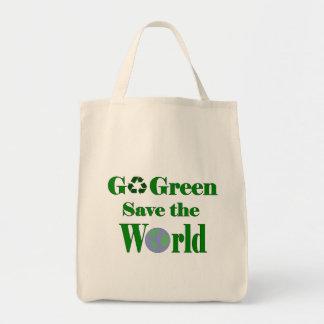 Va la reserva del verde el mundo bolsa tela para la compra