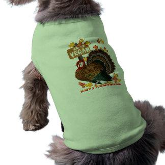 Va la ropa del mascota de la Vegano-Acción de grac Playera Sin Mangas Para Perro
