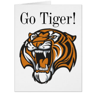 Va la tarjeta de felicitación GRANDE del tigre -
