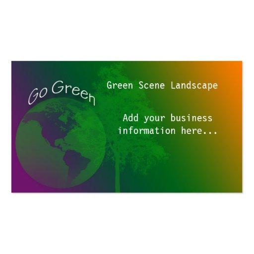 Va la tarjeta de visita verde