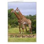 """""""Va"""" la tarjeta salvaje de las jirafas del feliz c"""