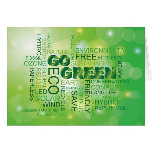 Va la tarjeta verde de la nube de la palabra